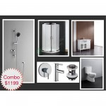 Bathroom Combo With 900mm Freestanding Vanity