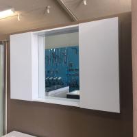 The European Bathroom Mirror Cabinet 1100mm 100% WaterProof#B1200