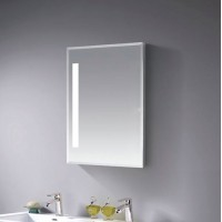 Mirror cabinet with led light 400mm -  White