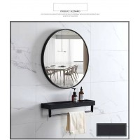 Bathroom Mirror for Wall with Black Frame 800mm