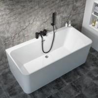 Bath Tub Marino Series 1500x730x560mm Acrylic Straight Single Square Ended