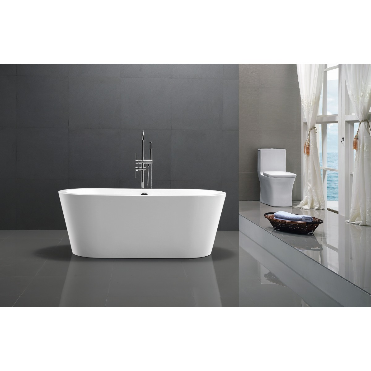 Freestanding Bath Royce Oval 1600mm