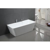 Bath Tub Marino Series 1700x800x600mm Acrylic Straight Single Square Ended