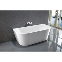 Bath Tub Marino Series 1400x800x580mm Acrylic Straight Single Curved Ended