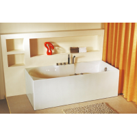 Bath Tub Carona Series 1700x750x560mm Acrylic Straight Single Square Ended