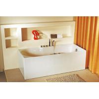 Bath Tub Carona Series 1700x750x560mm Acrylic Straight Single Square Ended
