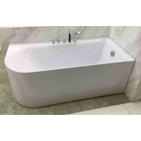 Bath Tub Carona Series 1700x750x580mm Acrylic Straight Single Curved Ended