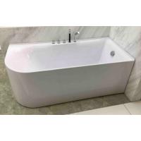 Bath Tub Carona Series 1700x750x580mm Acrylic Straight Single Curved Ended