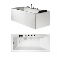 Bath Tub Carona Series 1500x750x550mm Acrylic Straight Single Square Ended