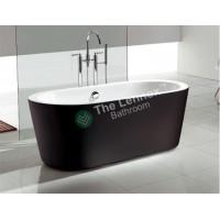 Freestanding Bathtub Oval 1600mm Black