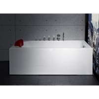 Bath Tub Carona Series 1700x750x550mm Acrylic Straight Single Square Ended