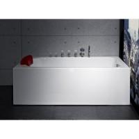 Bath Tub Carona Series 1700x750x550mm Acrylic Straight Single Square Ended