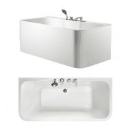 Bath Tub Carona Series 1600x780x620mm Acrylic Straight Single Square Ended
