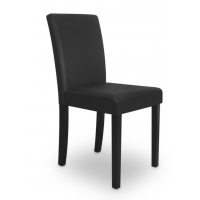 DINING CHAIR PU LEATHER IN BLACK