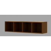 Wall Hung Cabinet - Brown
