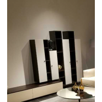 Wall Hung Side Cabinet - Black & White