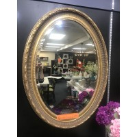 Large oval wood framed decorative mirror 800X1100mm