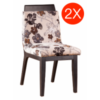 2XDinning Chair With Cotton Seat *SOLID OAK LEG- Clearance Sale