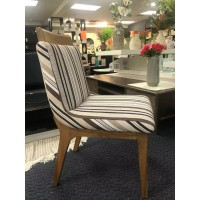 Dinning Chair With Cotton Seat *SOLID OAK LEG - Clearance Sale