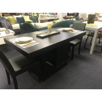 DINING TABLE - BLACK -Storage space under the table