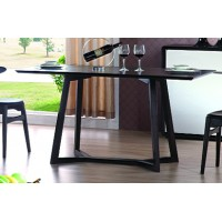 Solid Oak Leg DINING TABLE - Brown