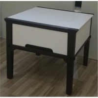Corner Side Table With Drawer