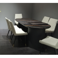 DINING TABLE - Engineering Stone Net Brown - Display Special