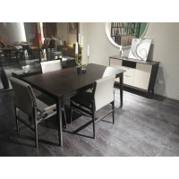 Solid Oak Dinning Table - Brown