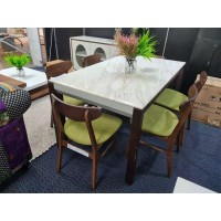 DINING TABLE - Marble Stone Top 1450*800*760mm
