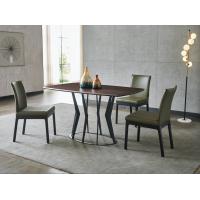 Metal Color Leg Dinnig Table - Brown