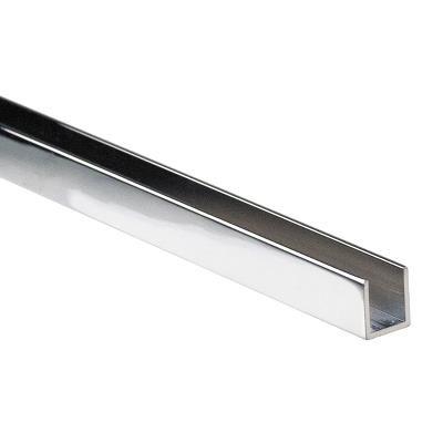 Aluminium U-Channel for 10mm Glass Shower Screens