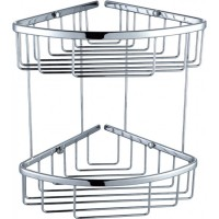 Chrome 2 Tier Double Shower Caddy Shelf Y104