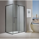 Shower Glass - Cape Series 2 Sides (1000x1000x1900mm) - Matt black
