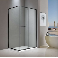 Shower Glass - Cape Series 2 Sides (1000x1000x1900mm) - Matt black