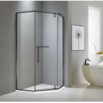 Shower Glass - Bay Series 2 Sides (900x900x1900mm) - Matt Black