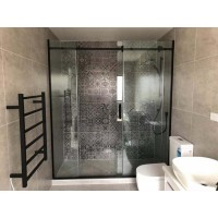 Shower Glass - Rock Series Sliding Door (1470-14900x1950mm) - Black