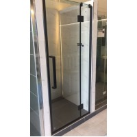 Shower Glass - Stream Series Swing Door (870x1900mm) With Black Color Frame