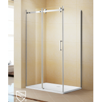 Shower Glass - Kora Series 2 Sides Frameless Glass (1200x900x1900mm)