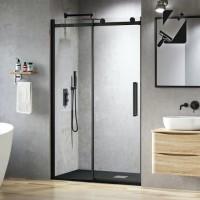Shower Glass - Rock Series Sliding Door (1470-14900x1950mm) - Black