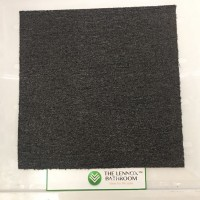 Home/Commercial PVC Woven Vinyl Flooring Tile Carpet - Dark Grey
