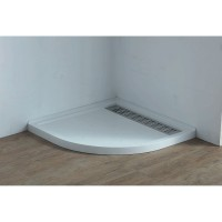Shower Tray - High Flow Waste & Stainless Steel Grate Cover 900x900mm