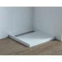 Shower Tray - High Flow Waste & Stainless Steel Grate Cover 1000x1000mm