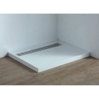 Shower Tray - High Flow Waste & Stainless Steel Grate Cover 1200x900mm