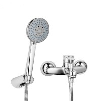 Chrome Bath Hot&Cold Water Mixer Tap Faucet with Hand Shower Set for Bathroom