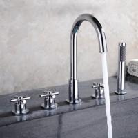 Bathtub mixer tap / countertop mixer tap Cross head 25003