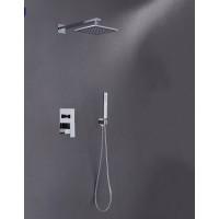 Shower Mixer Combination Square L005D -Set