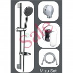 Shower Slide Combo Mains Pressure Mizu Set