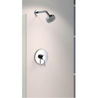 Shower Mixer - Round Series 129CP + Wall Mount Shower Rose
