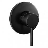 Shower Mixer - Round Series 129CP - Black