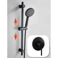 Shower Slide Combo Mains Pressure 6099 Black Set